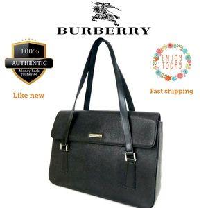 🌻💯 Burberry shoulder bag leather black like new